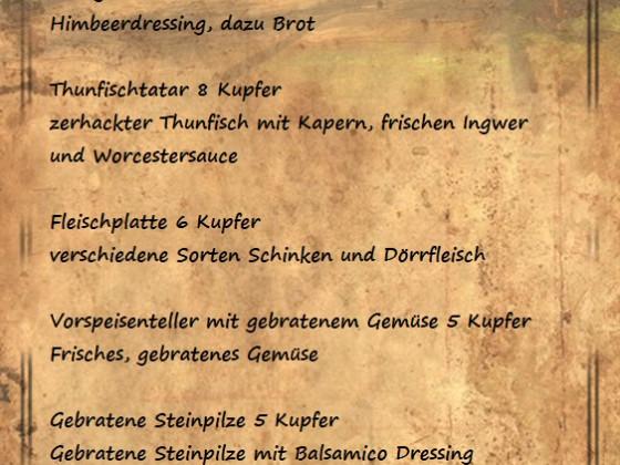Wildschwein Hut Speise-, Getränkekarte