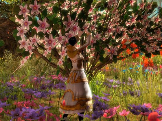 Die Blumenkomtess bei der Arbeit!