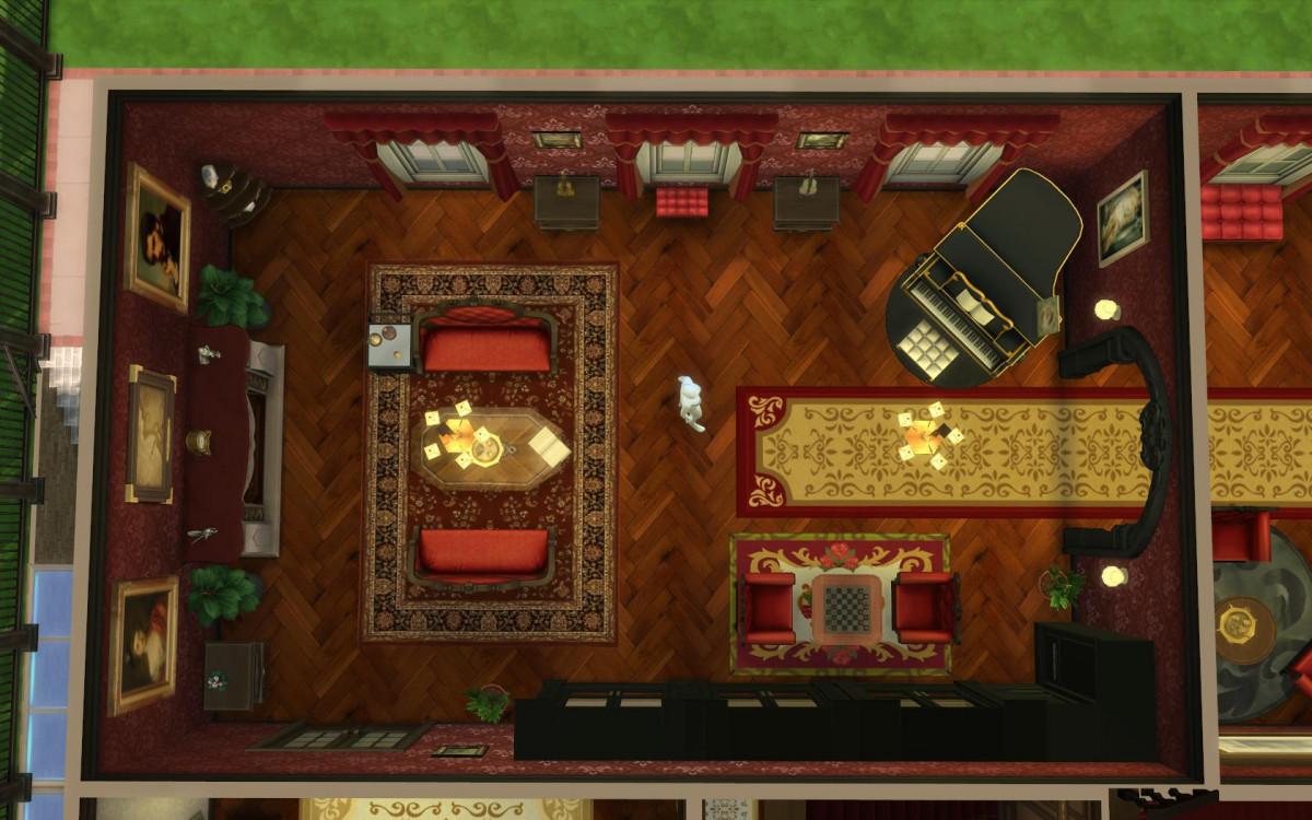 Der hintere Salon