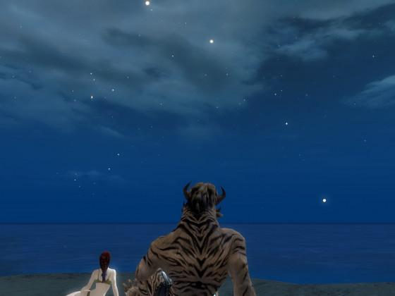 Nachts am Strand ..
