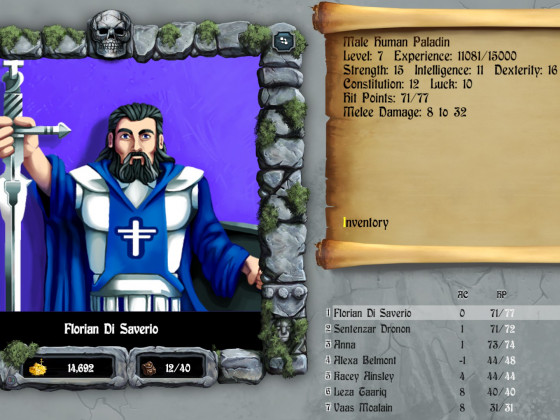 Bards Tale Crew: Flo, Mighty Beard Paladin of Beardness!!