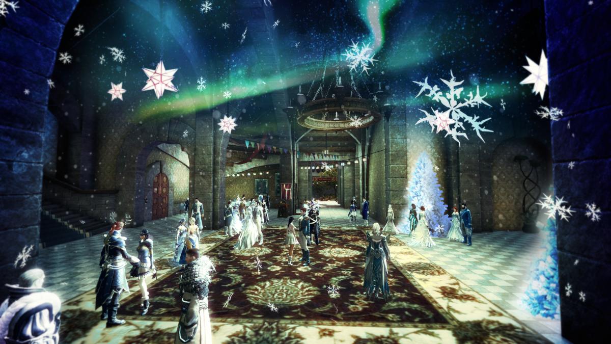 Tanz unter winterlichem Sternenhimmel