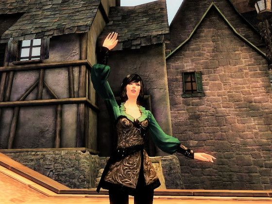 Arla vor ihrem Zuhause